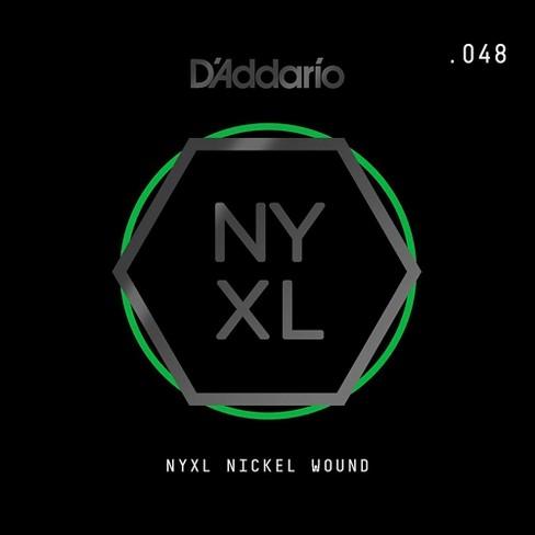 D'Addario NYNW048 NYXL Nickel Wound Electric Guitar Single String, .048 - image 1 of 2