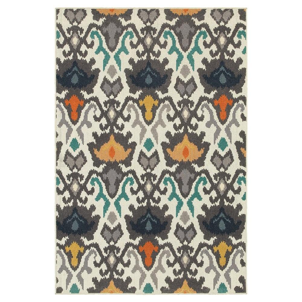 Brown/Yellow Newport Cool Area Rug 5'X8' - Oriental Weavers, Multicolored