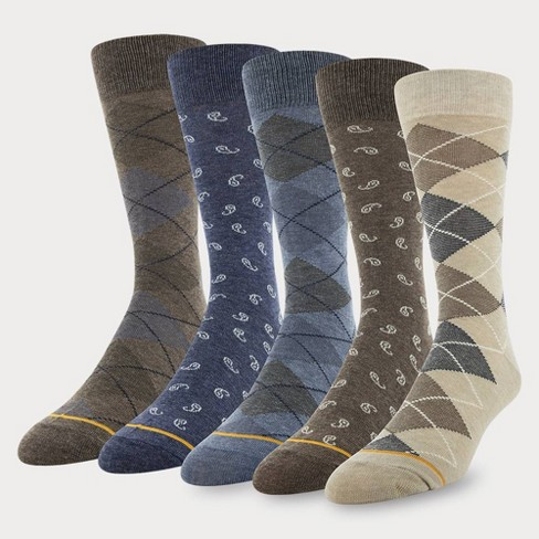 Signature Gold by GOLDTOE Men's Argyle Crew Socks 5pk - Oatmeal 6-12.5 - image 1 of 2