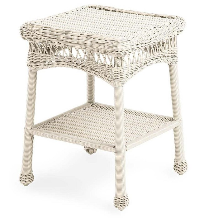 Easy Care Wicker End Table / Patio Side Table - Plow & Hearth - image 1 of 2