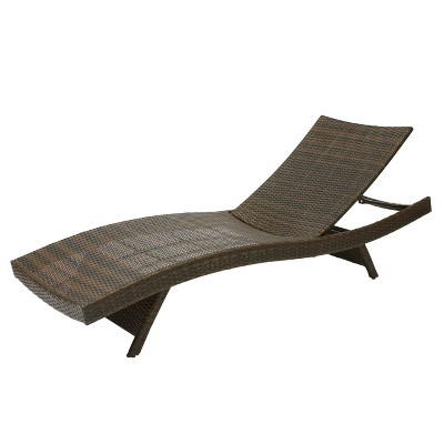 Salem Wicker Adjustable Chaise Lounge - Brown - Christopher Knight Home