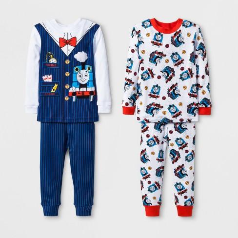 ec45660f6 Baby Boys  Thomas   Friends 4pc Pajama Set - Navy 18M   Target