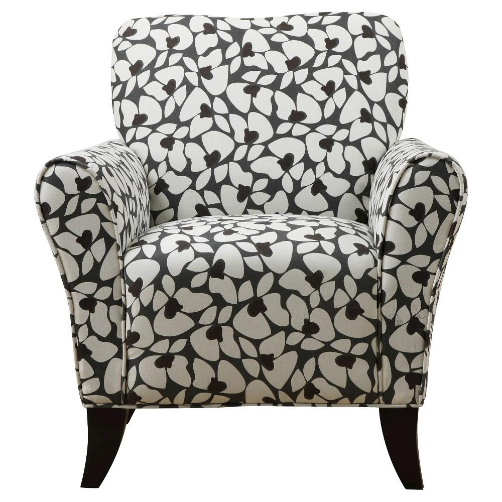 Sean Arm Chair - Charcoal Modern Floral - Handy Living