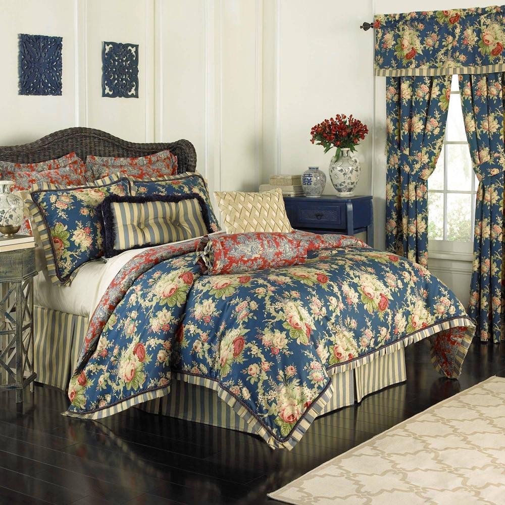 Floral Sanctuary Rose Comforter Set Queen 4pc Waverly