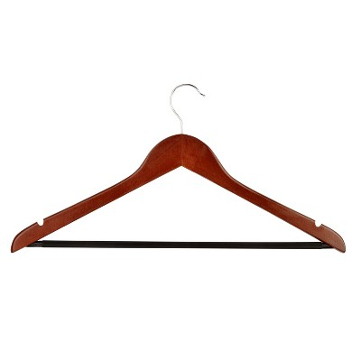 Honey-Can-Do 24-Pack Wood Hangers - Cherry