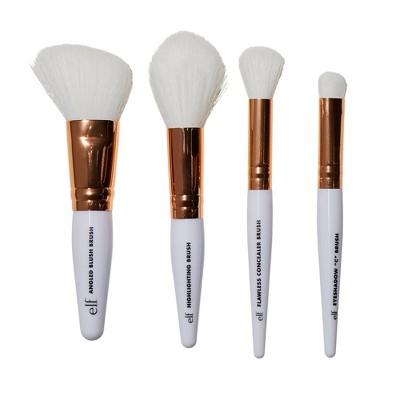 e.l.f. Rose Gold Travel Brush Kit - 4pc