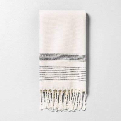 Hand Towel Striped Gray - Hearth & Hand™ with Magnolia
