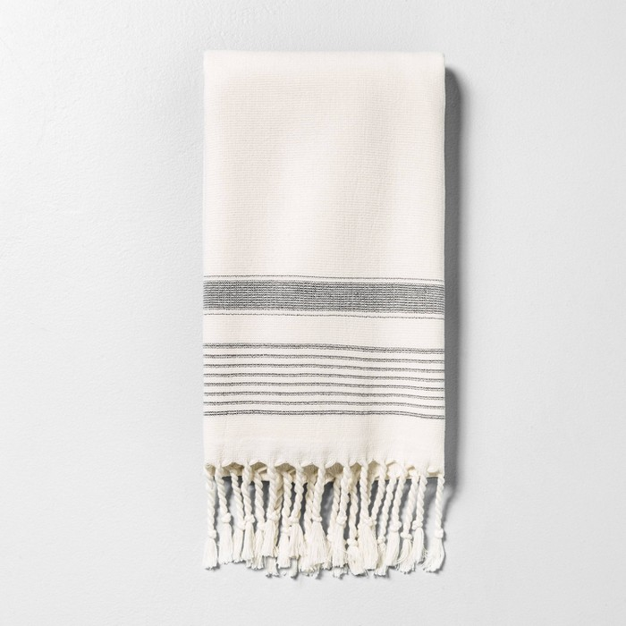 Hand Towel Striped Gray - Hearth & Hand™ with Magnolia - image 1 of 3