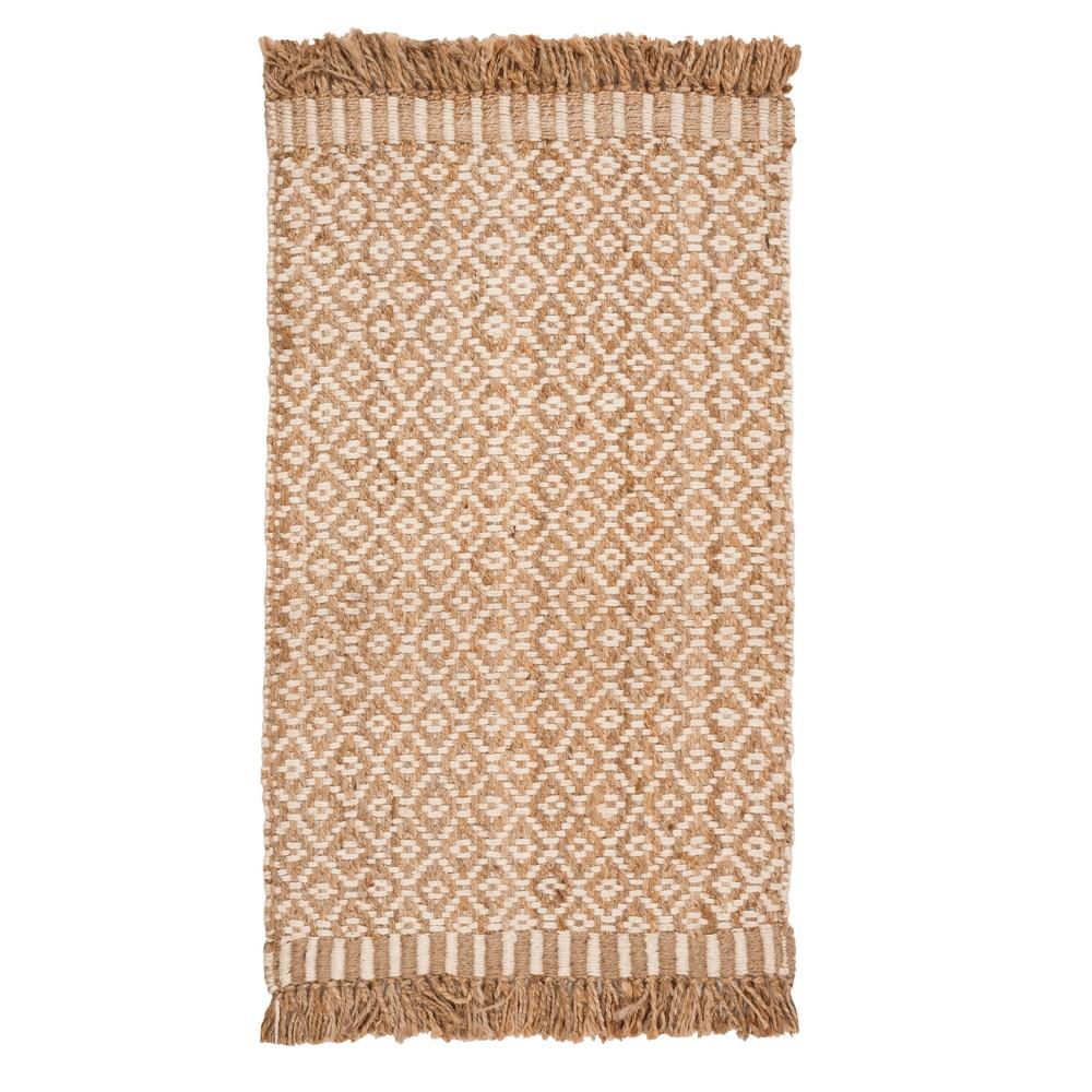 Natural/Ivory Geometric Woven Area Rug 5'X8' - Safavieh, Gray