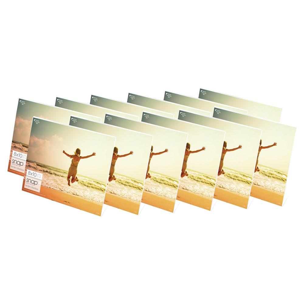 """Image of """"Horizontal Acrylic Frame set (10""""""""X8"""""""") Set of 12, Multi-Colored"""""""