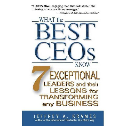 What the Best Ceos Know - by  Jeffrey A Krames (Paperback) - image 1 of 1