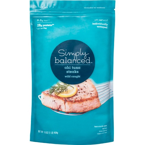 Wild Caught Yellowfin Tuna Steaks -16oz - Simply Balanced™ - image 1 of 3