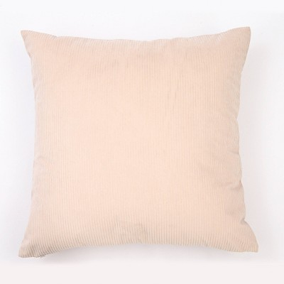 """18""""x18"""" Solid Ribbed Textured Square Throw Pillow Cream - freshmint"""