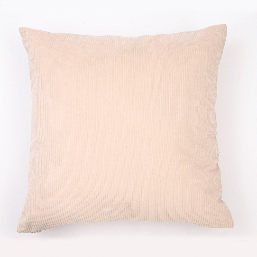 "Image of ""18""""x18"""" Solid Ribbed Textured Throw Pillow Cream - Freshmint"""