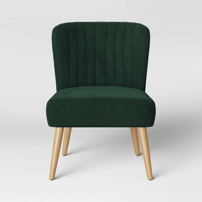 Chelidon Velvet Slipper Chair Green - Opalhouse™