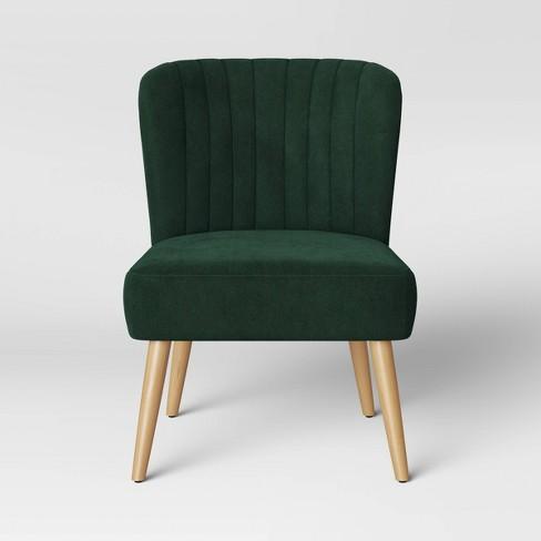 Chelidon Velvet Slipper Chair - Opalhouse™ - image 1 of 4