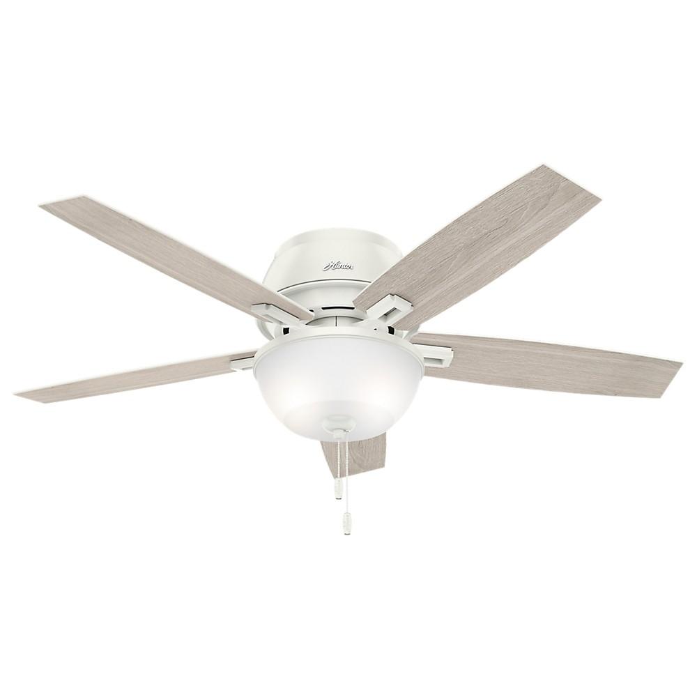 "Image of ""52"""" Donegan Low Profile Ceiling Fan with Light Fresh White - Hunter Fan"""