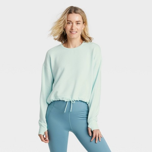 Women's Cozy Soft Fleece Crewneck Pullover Sweatshirt - All in Motion™ - image 1 of 4