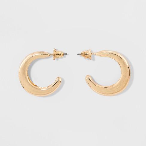 Smooth Metal C Hoop Earrings - Wild Fable™ Gold - image 1 of 1