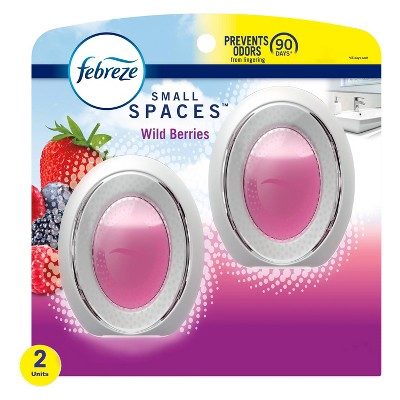 Febreze Odor-Eliminating Small Spaces Air Freshener - Wild Berries - 2ct