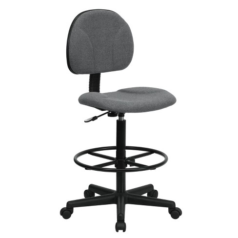Ergonomic Drafting Chair Adjustable Gray - Flash Furniture - image 1 of 4