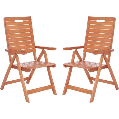 Rence Folding Chair (Set of 2) - Natural - Safavieh