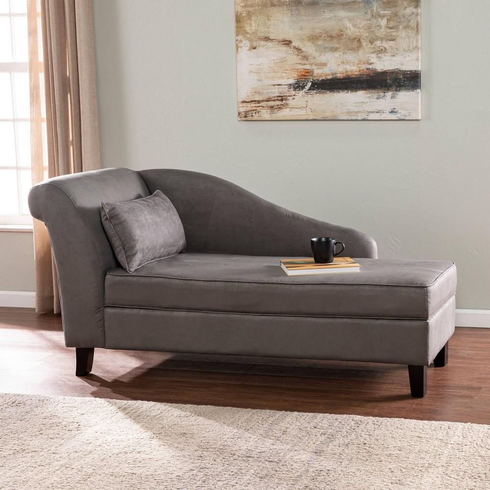Sensept Chaise Lounge With Storage Gray Aiden Lane