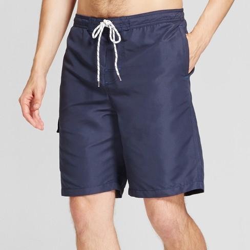 "Men's 9"" Board Shorts With Side Pocket - Goodfellow & Co™ Navy - image 1 of 3"
