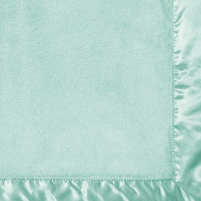 Solid Satin Edge Plush Blanket - Cloud Island™ Green