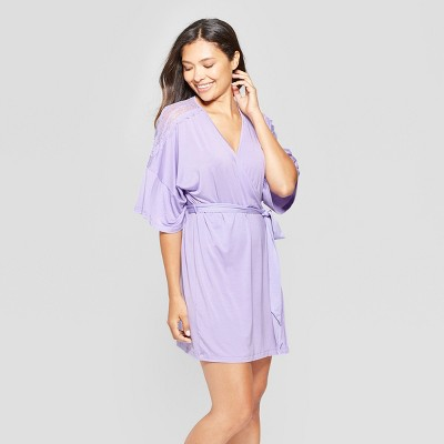 Women's Total Comfort Lace Robe - Gilligan & O'Malley™ Violet Tulip XS/S