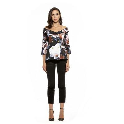 Alexia Admor Karinna Off Shoulder Floral Jacket