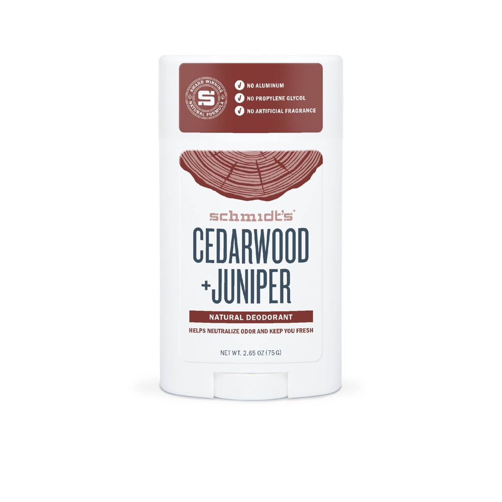Image of Schmidt's Cedarwood + Juniper Aluminum-Free Natural Deodorant Stick - 2.65oz