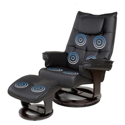Superbe 8 Motor Massage Recliner With Heat And Ottoman   Relaxzen