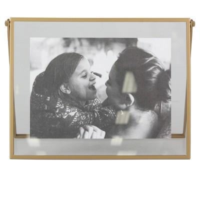 Hinge Float Horizontal Single Image Frame Brass - Project 62™