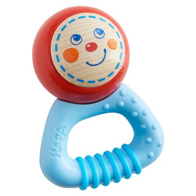 HABA Musical Character Leo - Rattle, Clutching Toy and Teether