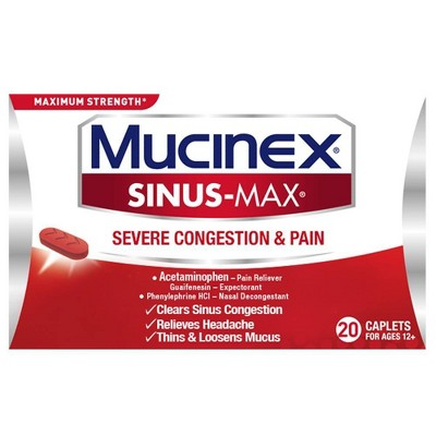 Mucinex Sinus-Max Severe Congestion Relief Caplets - Acetaminophen - 20ct