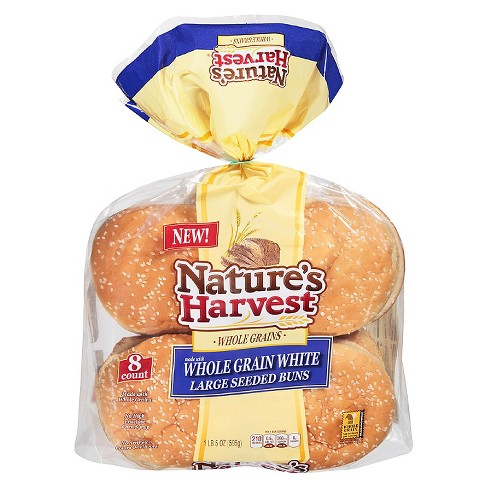 Nature's Harvest Whole Grain White Seeded Buns - 8ct - image 1 of 1