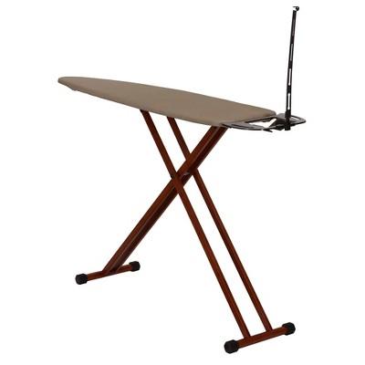 Household Essentials Dark Bamboo Leg Ironing Board
