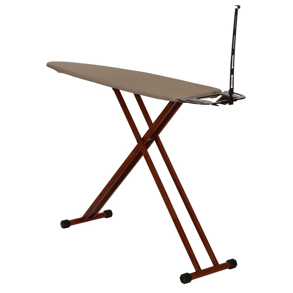 Household Essentials Dark Bamboo Leg Ironing Board, Brown