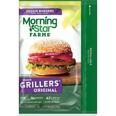 Morningstar Farms Grillers Original Veggie Burger - Frozen - 9oz/4ct