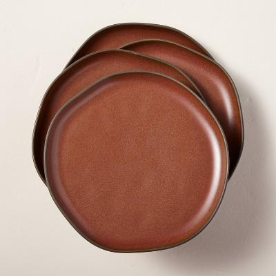 Stoneware Exposed Rim Dessert Plate Set of 4 Cinnamon - Hearth & Hand™ with Magnolia