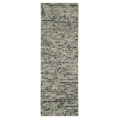 """Gray/Multi Stripes Tufted Runner - (2'6""""X6')- Safavieh"""