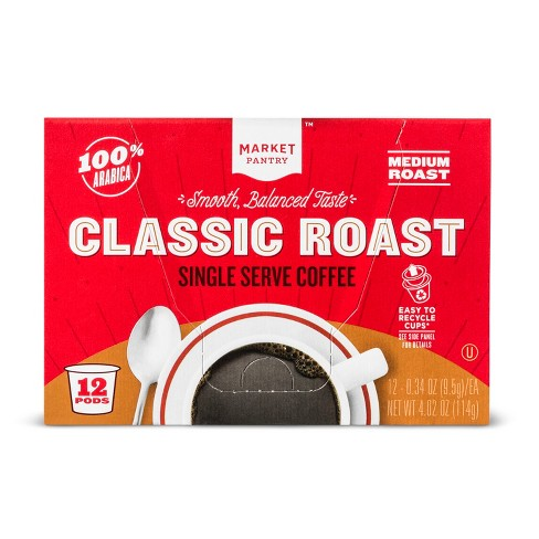 Premium Roast Medium Roast Coffee - Single Serve Pods - 12ct - Market Pantry™ - image 1 of 3