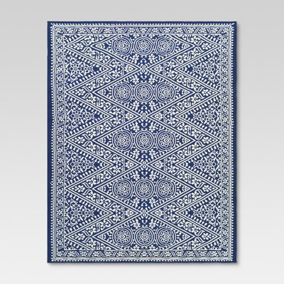 Tapestry Blue Outdoor Rug - 7'x10' - Threshold™