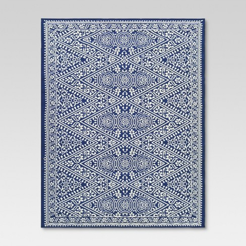 Tapestry Outdoor Rug Blue - Threshold™ - image 1 of 1