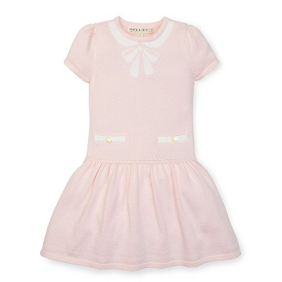 Hope & Henry Girls' Sweater Trompe L'oeil Dress, Infant