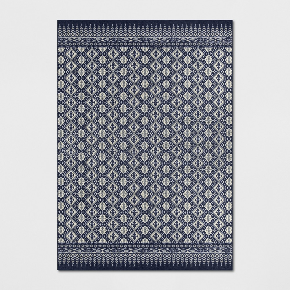 7'X10' Diamond Tufted Area Rugs Indigo (Blue) - Threshold