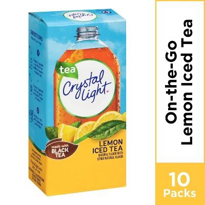 Crystal Light On the Go Natural Lemon Iced Tea Drink Mix - 10pk/0.7oz