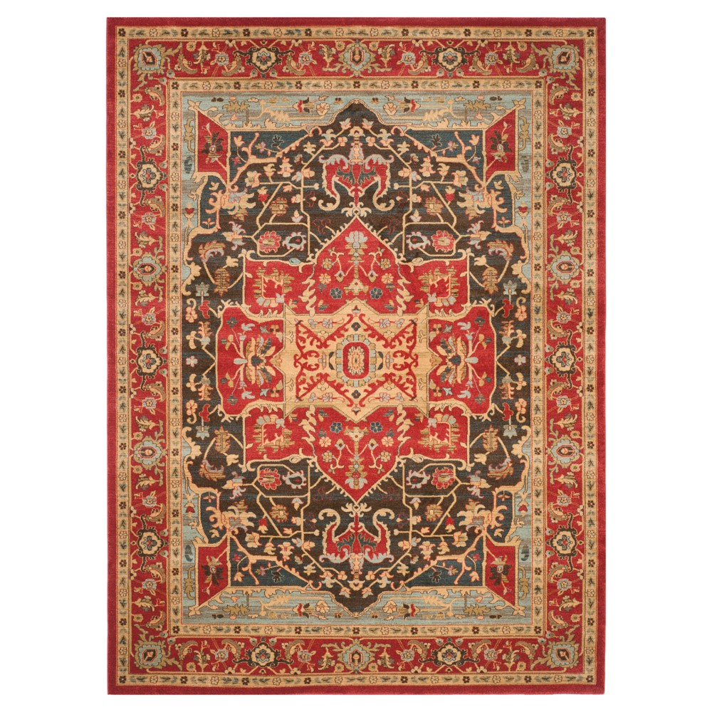 Hawly Area Rug - Red/Red (9'x12') - Safavieh, Natural/Red