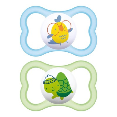 MAM Air Pacifier 6+ Months - Green/Blue 2pk